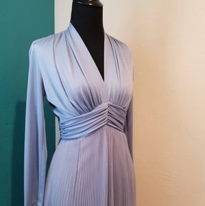 Vintage 1960s Chiffon Pleaded Gown